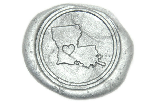 Heart your State Wax Seal Stamp - Wax Seal Stamp - Backtozero