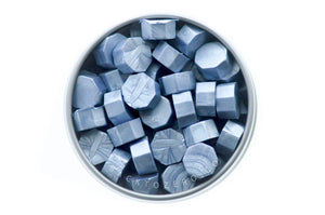 Steel Blue Octagon Sealing Wax Beads - Backtozero