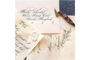 Suzanne Cunningham Calligraphy V Wax Seal Stamp | Available in 4 Sizes - Backtozero