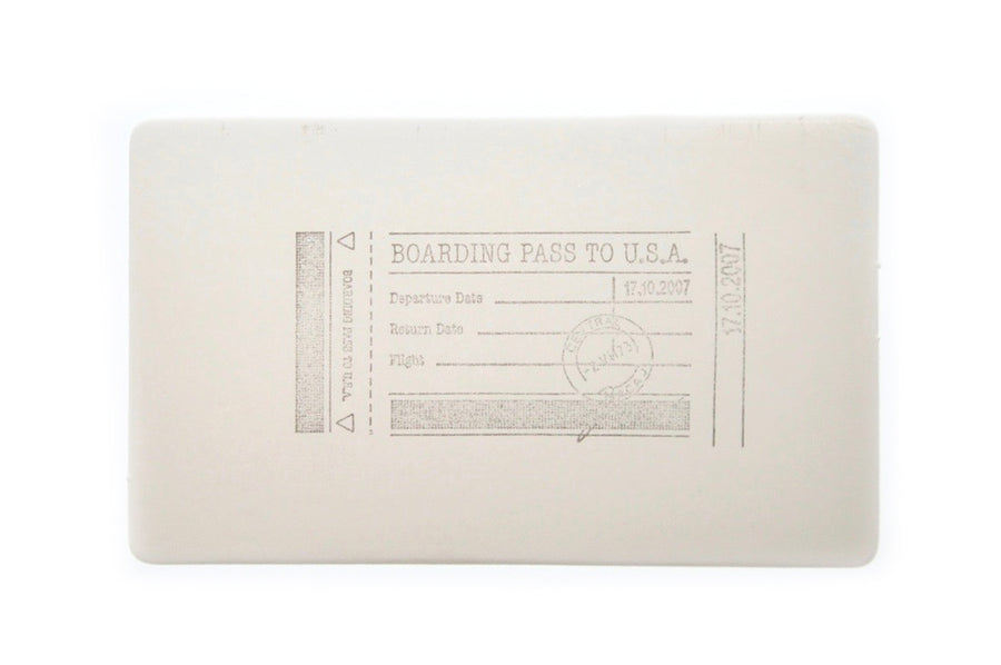 Travel Rubber Stamp | H - Rubber Stamp - Backtozero