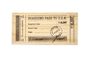 Travel Rubber Stamp | H