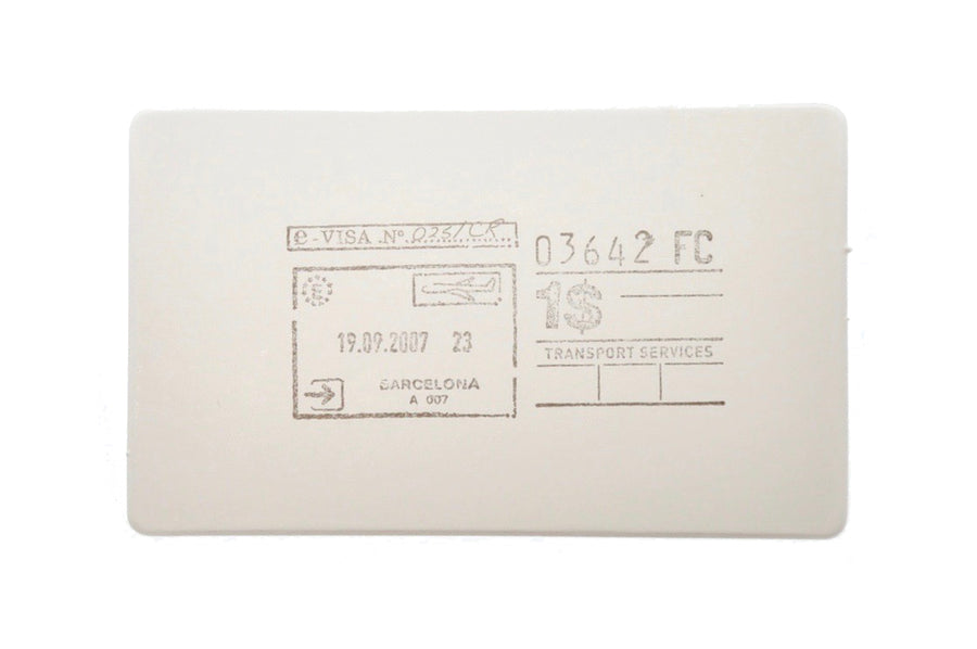 Travel Rubber Stamp | A - Rubber Stamp - Backtozero