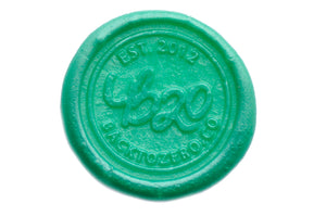 Turquoise Metallic Green Filigree Wick Sealing Wax Stick - Sealing Wax - Backtozero