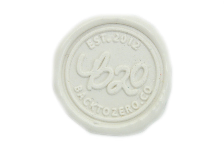 White Sealing Wax Heart Bead - Sealing Wax - Backtozero