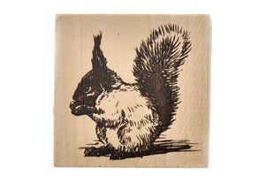 Woodland Rubber Stamp | Squirrel - Rubber Stamp - Backtozero