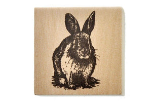 Woodland Rubber Stamp | Rabbit - Rubber Stamp - Backtozero