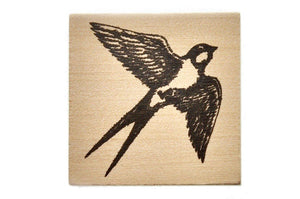 Woodland Rubber Stamp | Swallow - Rubber Stamp - Backtozero