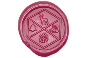 Holidays Icons Hexagonal Wax Seal Stamp - Wax Seal Stamp - Backtozero