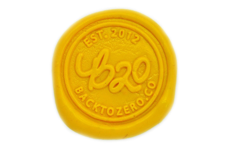Yellow Sealing Wax Heart Bead - Sealing Wax - Backtozero