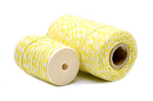 Yellow/White Baker's Twine - Twine - Backtozero