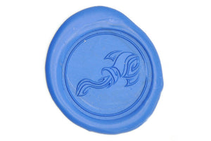 Zodiac Aquarius the Water-Bearer Wax Seal Stamp - Wax Seal Stamp - Backtozero