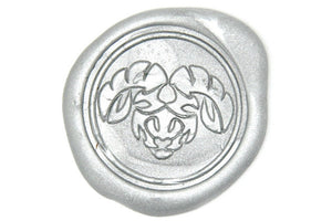 Zodiac Aries the Ram Wax Seal Stamp - Wax Seal Stamp - Backtozero