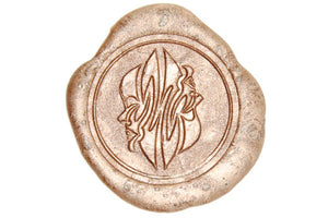 Zodiac Gemini the Twins Wax Seal Stamp - Wax Seal Stamp - Backtozero