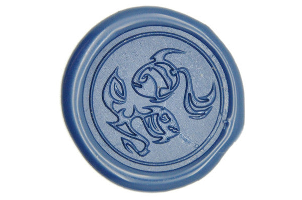 Zodiac Pisces the Fish Wax Seal Stamp, Backtozero  - 1