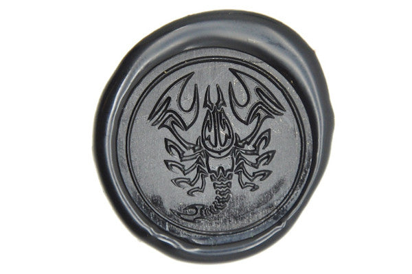 Zodiac Scorpio the Scorpion Wax Seal Stamp, Backtozero  - 1