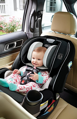 Graco 4Ever Extend2Fit All in One Convertible Car Seat - C ...