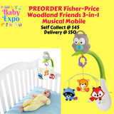 PREORDER ETA 1-15 Oct 2019 - Fisher-Price Woodland Friends 3-in-1 Musical Mobile