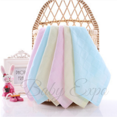 Baby Muslin Wash Cloth (25cm x 25cm) Newborn Square Hanky