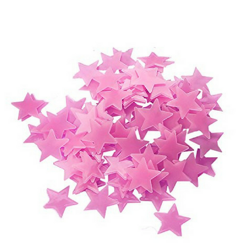 Glow In The Dark Stars - Pink (100pcs)