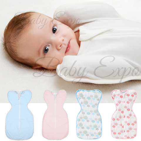 100% Cotton Breathable Newborn Baby Self Soothing Swaddle Up