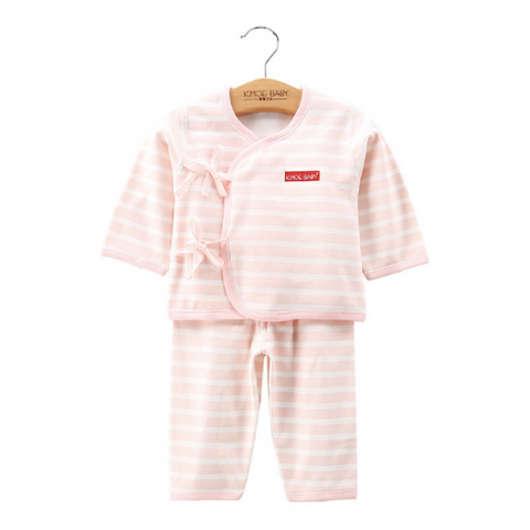 Baby PJ Set - Stripe Pink