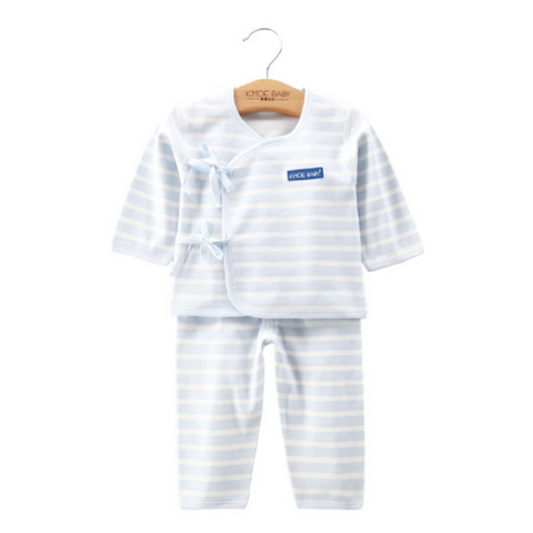 Baby PJ Set - Stripe Blue