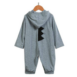 Baby Non-footed Jumpsuit with Hoodie - Blue