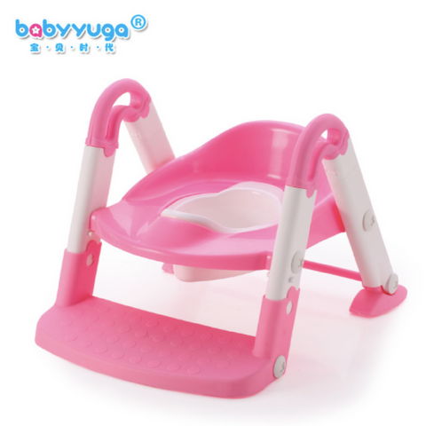 Babyyuga Step Stool Potty - Pink