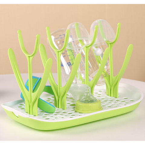 Milk Bottle Drying Rack - Green