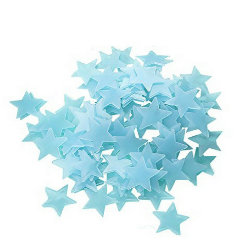Glow In The Dark Stars - Blue (100pcs)