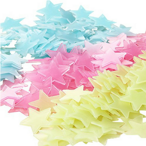 Glow In The Dark Stars - Mixed Colours (100pcs)