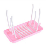 Portable Milk Bottle Drying Rack - Pink