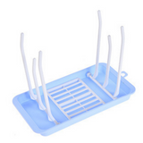 Portable Milk Bottle Drying Rack - Blue