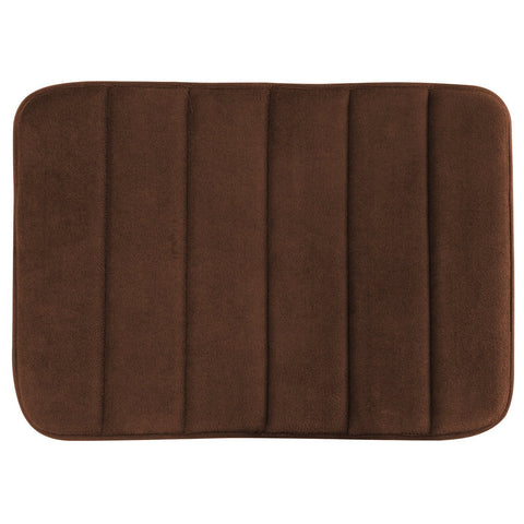 Memory Foam Floor Bath Mat - Dark Brown