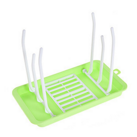 Portable Milk Bottle Drying Rack - Green