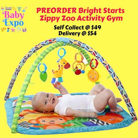 PREORDER ETA 1-15 Jun 2020 - Bright Starts Zippy Zoo Activity Gym