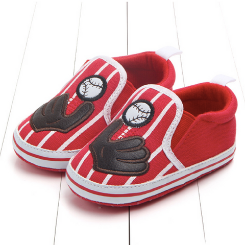 Pre-walker Shoes - Baseball Red