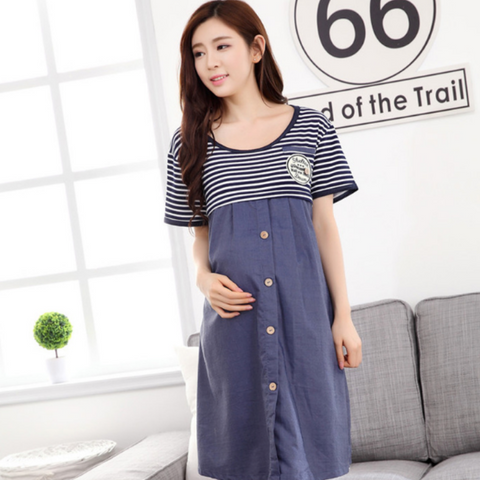 Maternity Nursing PJ Dress - PD003