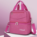 V-Coool Double Layer Cooler Bag (3388) - Pink