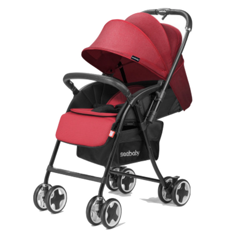 Seebaby Reversible Stroller (T09A) - Red