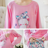 Maternity Nursing Long Sleeve PJ Set - PL003