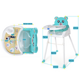 BBH Baby High Chair & Booster Seat - Blue