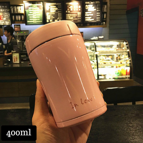 Thermal Cup 400ml - Light Pink
