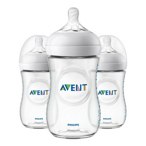Philips Avent Natural Baby CLEAR Bottle 260ml - (3 Bottles)