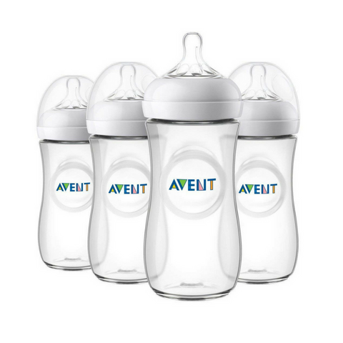 Philips Avent Natural Baby CLEAR Bottle 330ml - (4 Bottles)