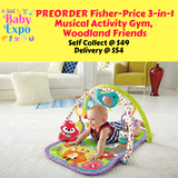 PREORDER ETA 1-15 Sept 2019 - Fisher-Price 3-in-1 Musical Activity Gym, Woodland Friends