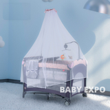 Baby Premium Playpen with Mosquito Net - (Pink)