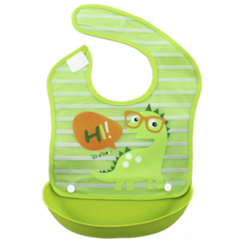 Waterproof Bib With Removable Food Catcher (BFC005)