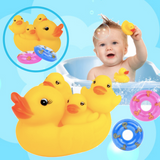 Bath Toy - Rubber Ducky 6pcs Set