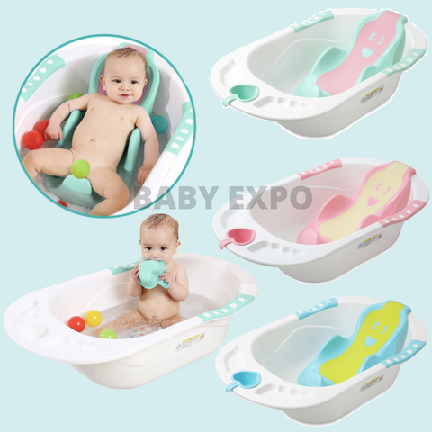 Baby Bath Tub with Anti-slip Bath Support